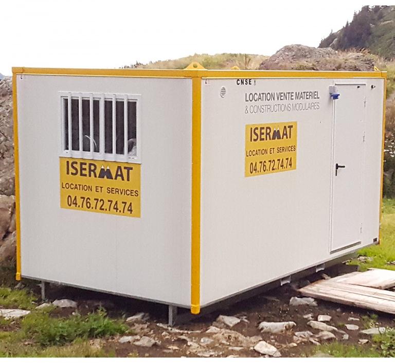 Abri mobile aménagé WC, réfectoire et vestiaire 3 m