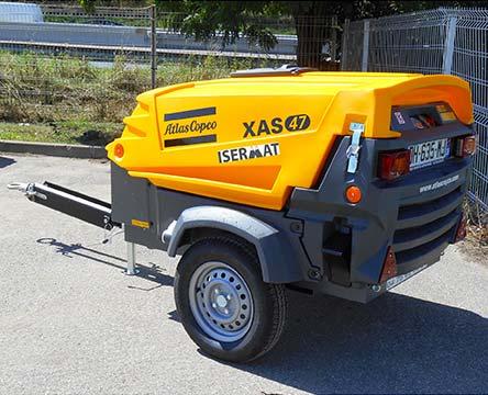Compresseur mobile insonorisé 2 500 litres