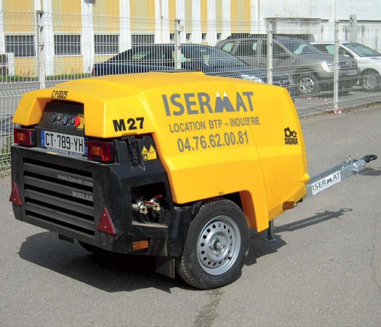 Compresseur mobile insonorisé 2 100 litres