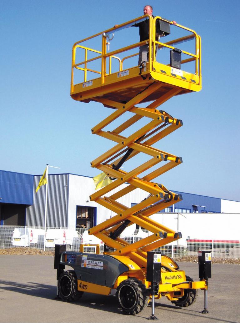 Nacelle plateforme courte 2,5 m extension 1,2 m
