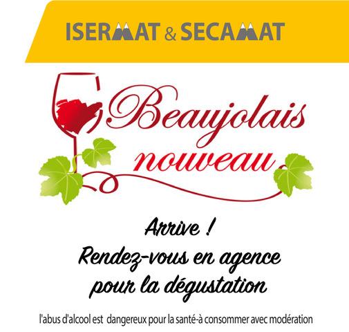 (Les) Beaujolais nouveaux chez ISERMAT et SECAMAT