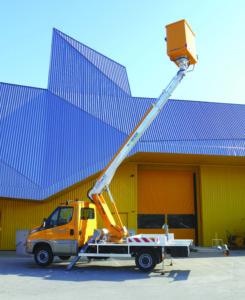 Camion nacelle télescopique 16 m – hybride